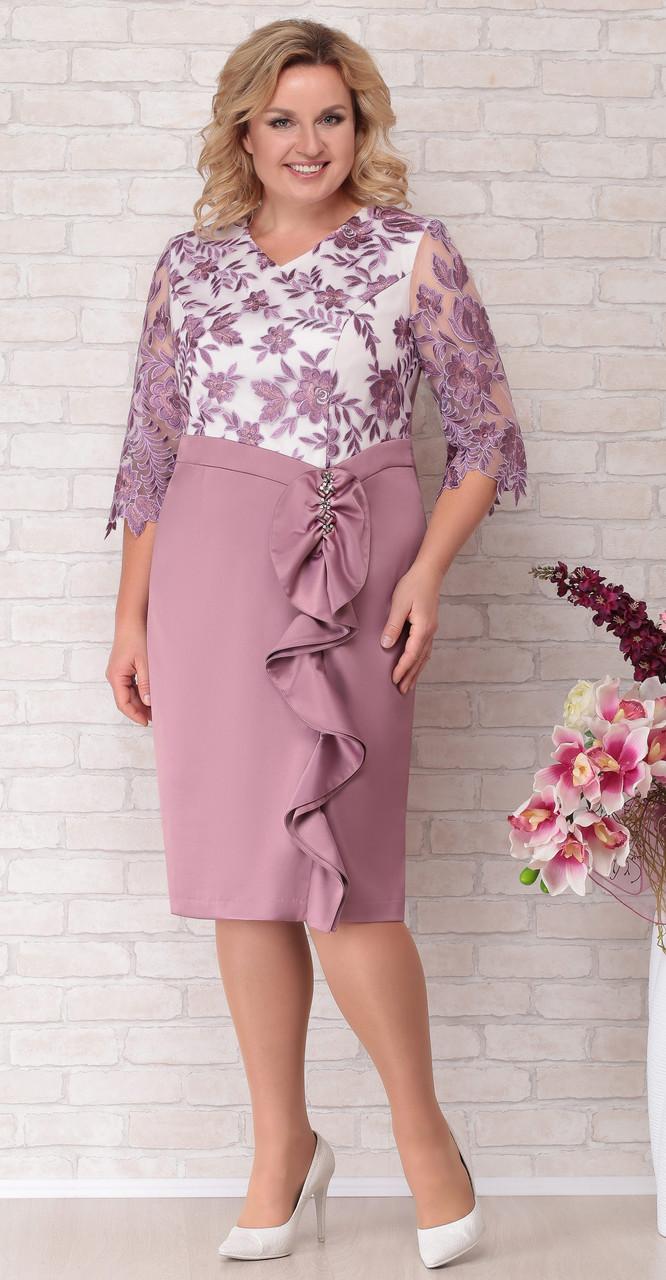Платье Aira Style-691, розовые тона, 52