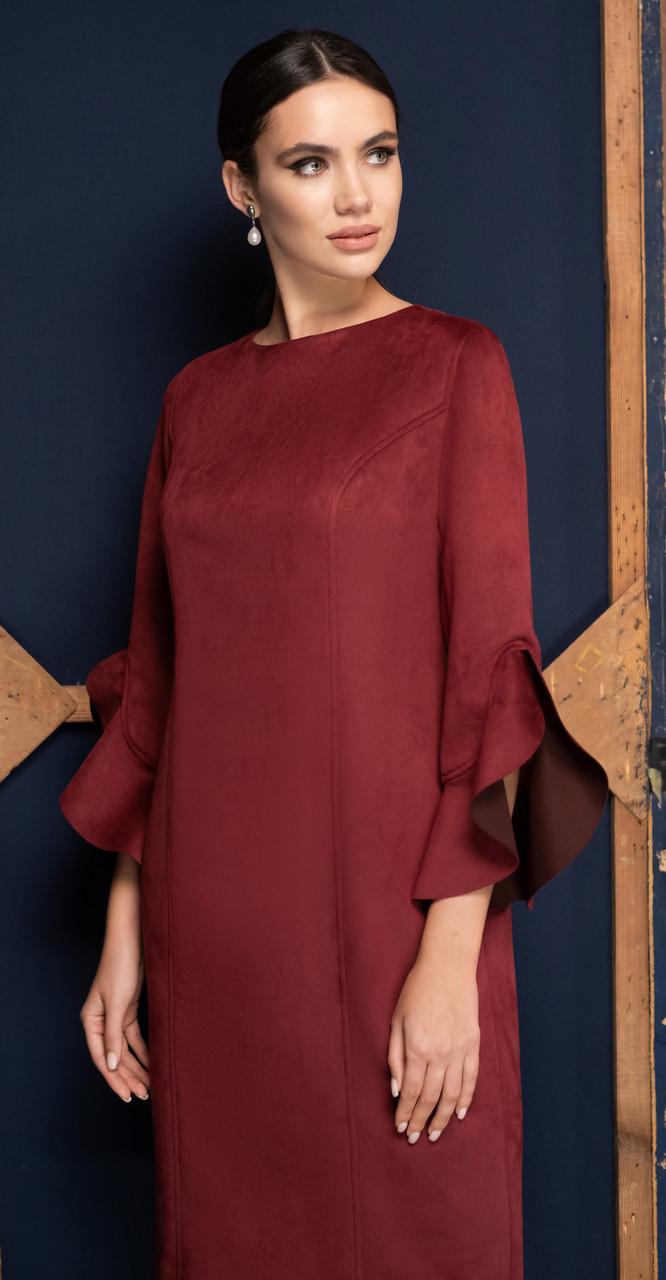 Платье Юрс-19-931-2, марсала, 50