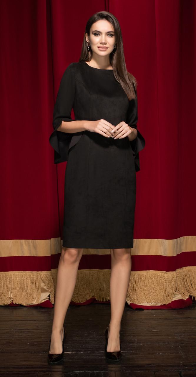 Платье Юрс-19-931-3, черный, 50