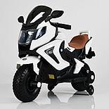 Детский электромобиль мотоцикл Kawasaki с надувными колесами, белый, фото 2