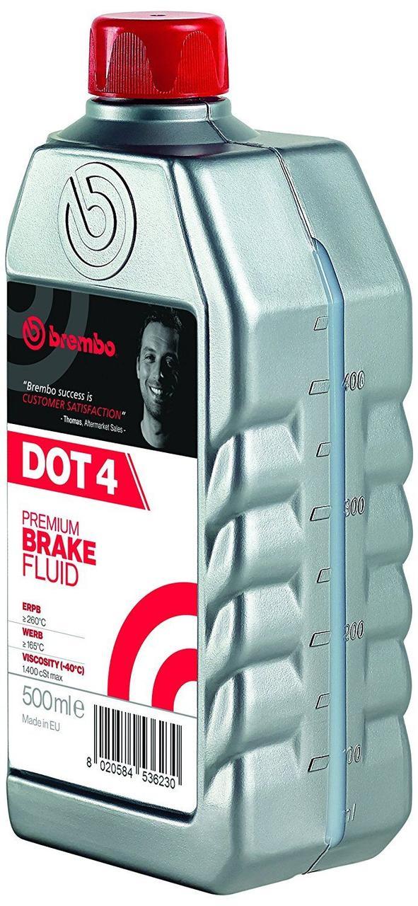 Жидкость тормозная BREMBO DOT 4 0.5л