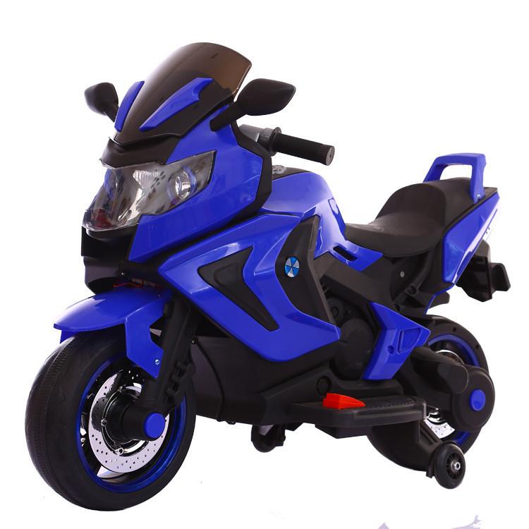 Электромотоцикл детский Kawasaki, синий