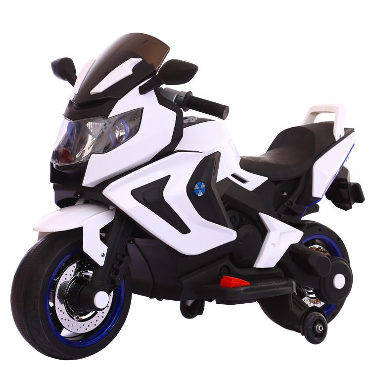 Электромотоцикл детский Kawasaki, белый
