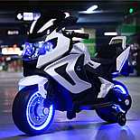 Электромотоцикл детский Kawasaki, белый, фото 4