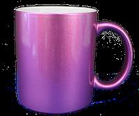 Кружка керамическая  перламутровая (Розовая)