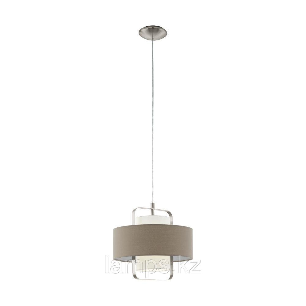 Светильник подвесной Eglo FONTAO, сталь, материал  HL  1 E27 TAUPE  WEISS