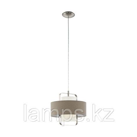 Светильник подвесной Eglo FONTAO, сталь, материал  HL  1 E27 TAUPE  WEISS, фото 2