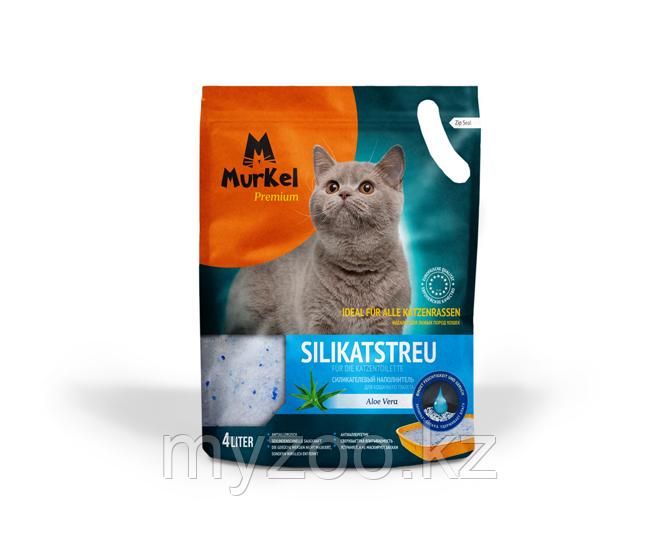 Murkel (Муркель) наполнитель для кошачьего туалета с ароматом алоэ,1.8кг(силикагель)