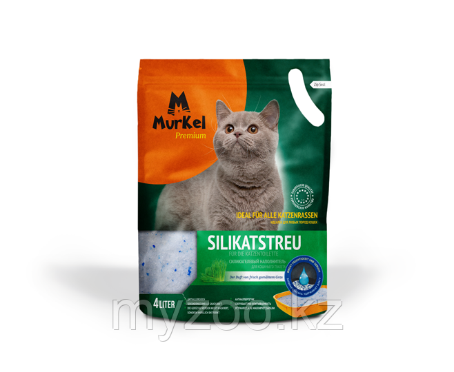 Murkel (Муркель) наполнитель для кошачьего туалета с ароматом скошенной травы,1.8кг(силикагель)