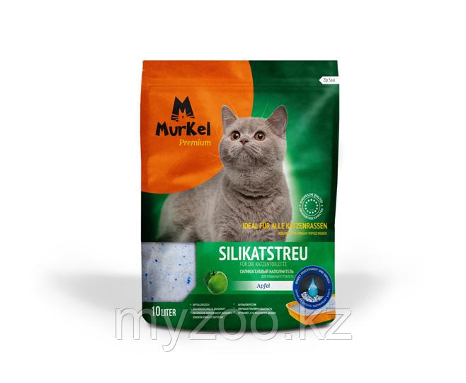 Murkel (Муркель) наполнитель для кошачьего туалета с ароматом яблока,4.5кг(силикагель)