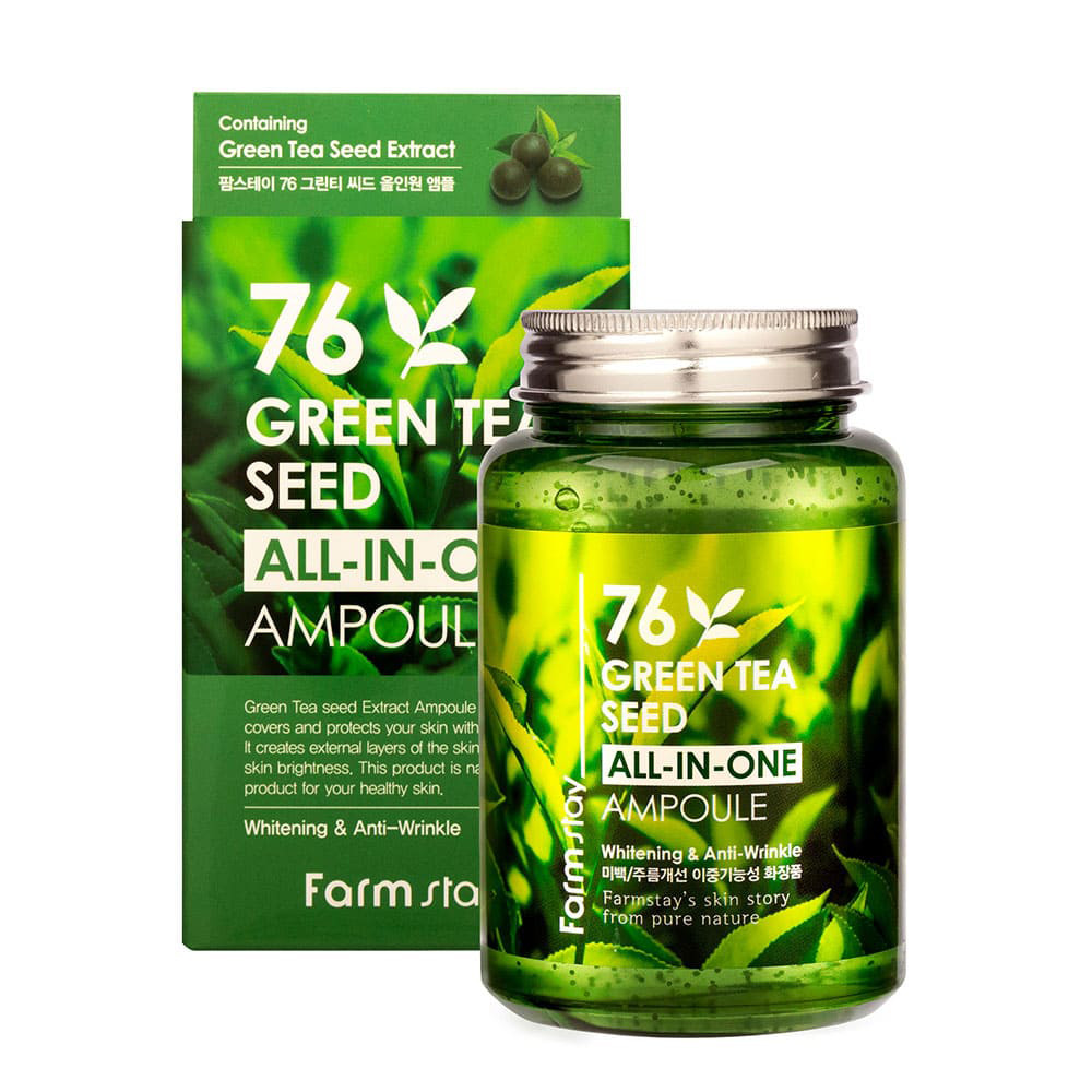 Сыворотка для лица FarmStay 76 Green Tea Seed All-In-One Ampoule 250 мл