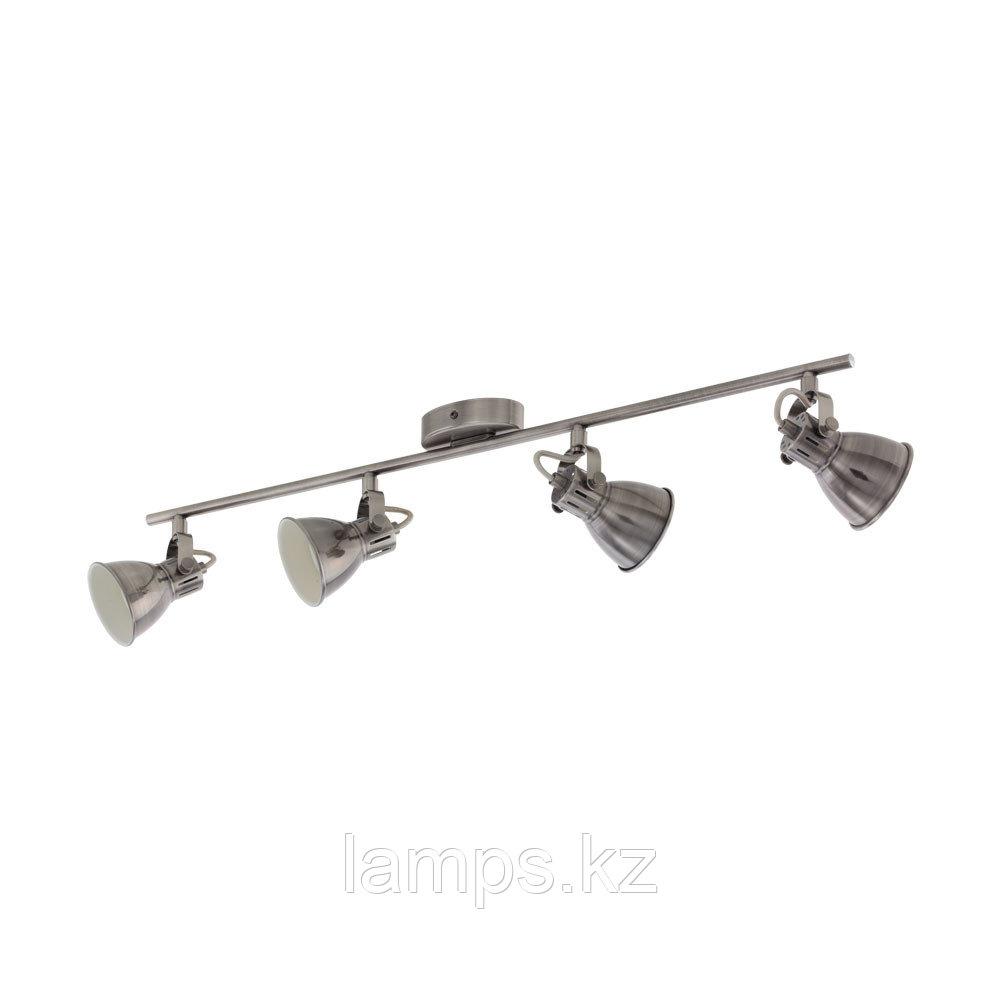 Светильник настенно-потолочный Eglo SERAS, сталь, LS/4 NICKEL-ANTIK/CREME