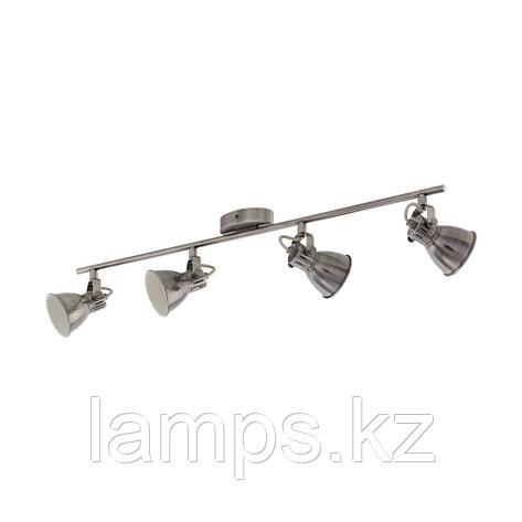 Светильник настенно-потолочный Eglo SERAS, сталь, LS/4 NICKEL-ANTIK/CREME, фото 2