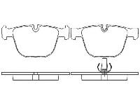 Колодки тормозные дисковые задние BREMBO P 06 026 BMW E65/E66 4.5/6.0/4.0D 01>