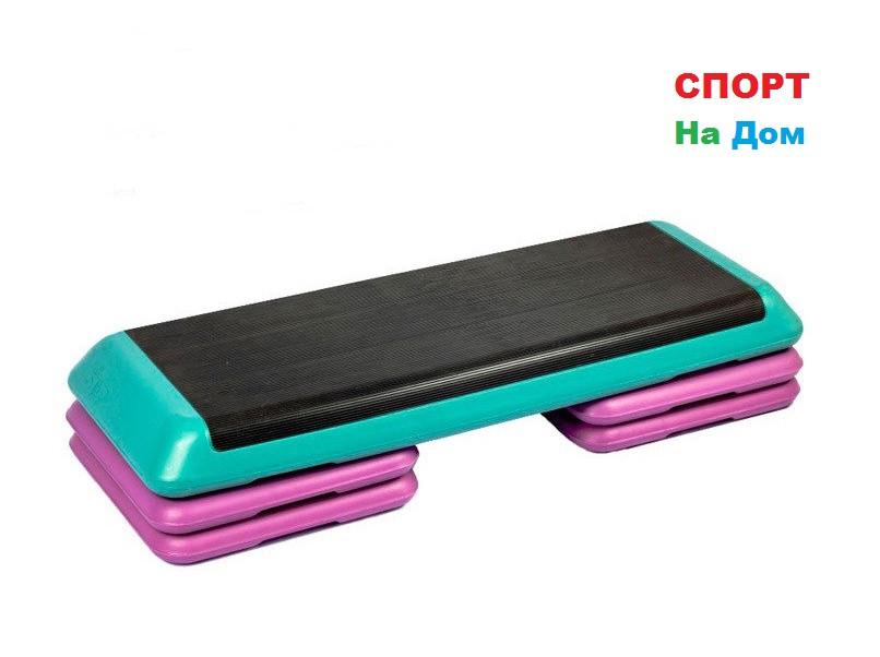 Степ платформа для кроссфита зеленая ( Габариты: 110 х 41 х 21 см )