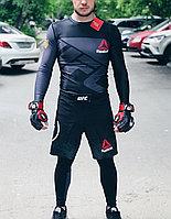 Рашгард с длинным рукавом  Reebok UFC  3 в 1 ( комплект верх + низ + шорты ), фото 1
