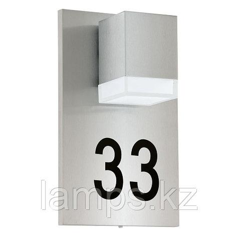 Светильник Eglo уличный настенный с нумерацией дома PARDELA 1 1x 2,5W, фото 2