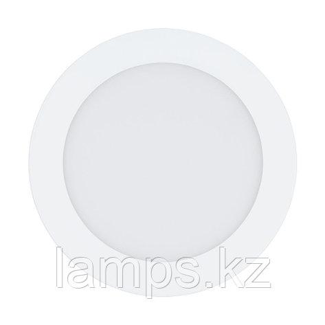 Встраиваемый светильник Eglo FUEVA 1, LED-EINBAUSPOT Ø170 WEISS 3000K, металл, пластик, фото 2