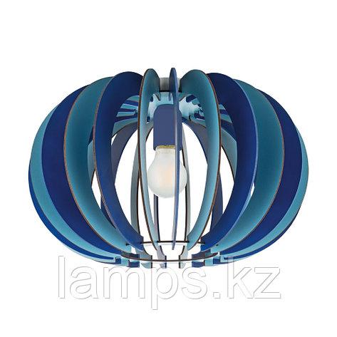 Светильник потолочный Eglo FABELLA, сталь, дерево     1 E27 BLAU, фото 2