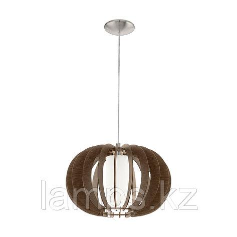 Светильник подвесной Eglo STELLATO 3, сталь, дерево, стекло, фото 2