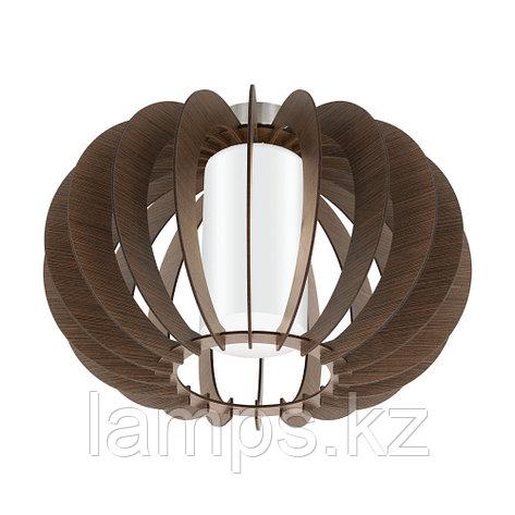 Светильник потолочный Eglo STELLATO 3, сталь, дерево, стекло, фото 2