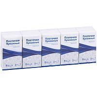 """Платки бумажные носовые OfficeClean """"Premium"""", 3-слойные, 18*20см, белые"""