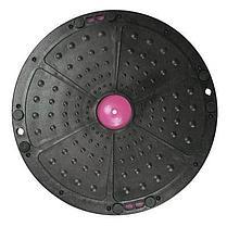 Полусфера гимнастическая с пупырышками, цвет серый BOSU (диаметр 59 см), фото 2