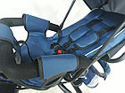 Трехколесный велосипед с родительской ручкой. Надувные колеса. Спинка откидывается., фото 9