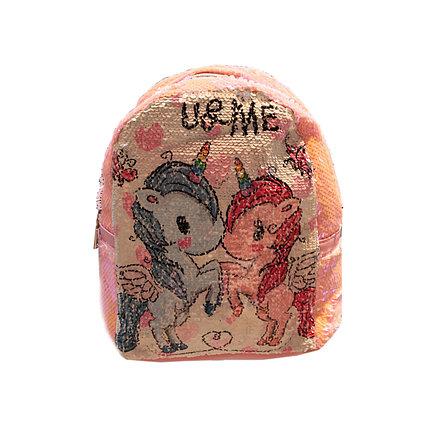 Рюкзак детский, Единорог пайетки (L18-1D), фото 2