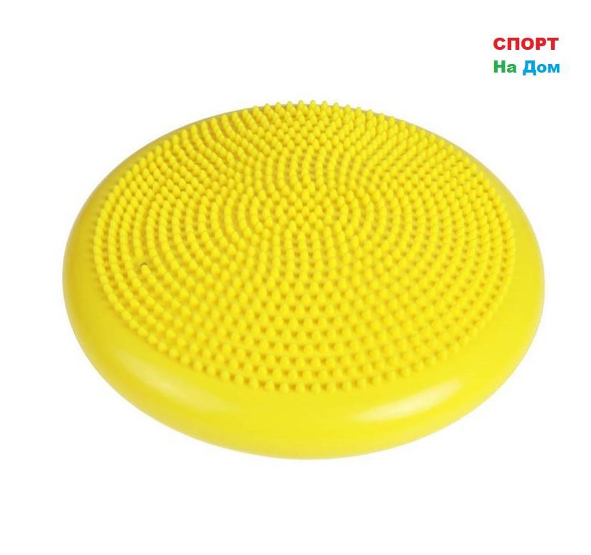 Балансировочная массажная подушка (цвет желтый)
