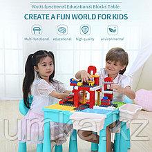Стол со стульчиком с конструкторов 3 в 1 MoYa