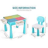 Стол со стульчиком с конструкторов 3 в 1 MoYa, фото 2