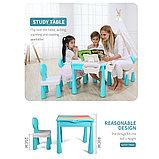 Стол со стульчиком с конструкторов 3 в 1 MoYa, фото 3
