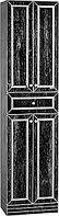 Пенал напольный 50 Феличе Черный с серебром В1 Домино