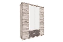 Шкаф для одежды 4Д  Джаз, Каштан найбори Светлый, Анрэкс (Беларусь)