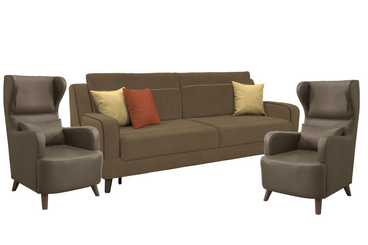 Комплект мягкой мебели Стивен, Коричневый, Нижегородмебель и К(Россия)