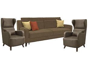 Комплект мягкой мебели Стивен, Коричневый, Нижегородмебель и К(Россия), фото 2