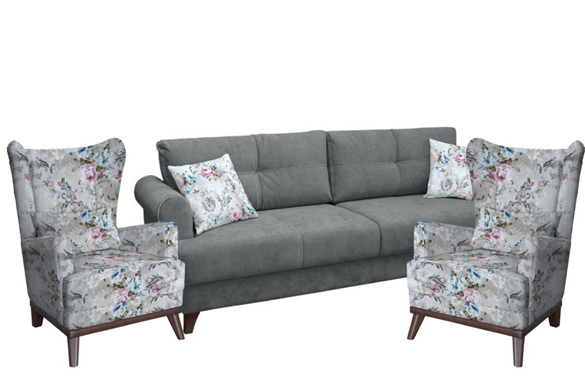 Комплект мягкой мебели Мирта, Серый, Нижегородмебель и К(Россия)