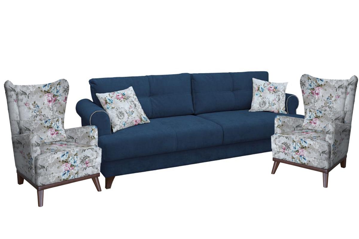 Комплект мягкой мебели Мирта, Синий, Нижегородмебель и К(Россия)