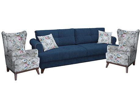 Комплект мягкой мебели Мирта, Синий, Нижегородмебель и К(Россия), фото 2