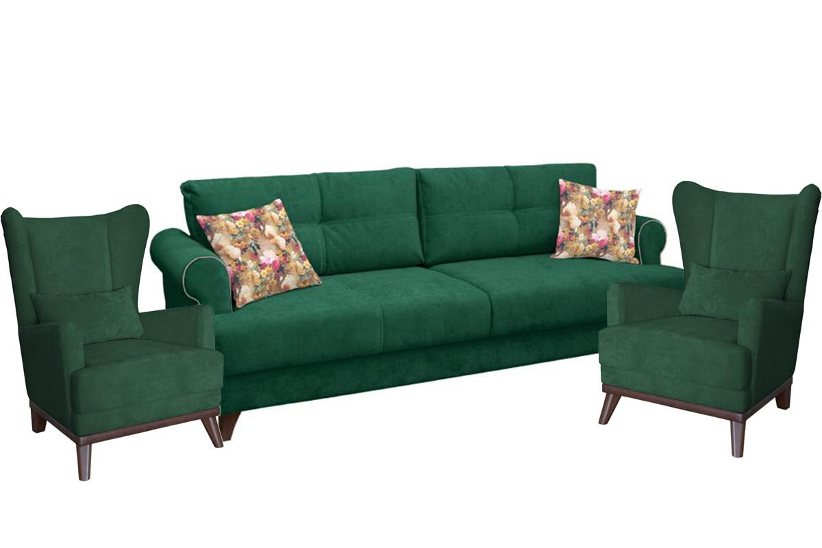 Комплект мягкой мебели Мирта, Зеленый, Нижегородмебель и К(Россия)