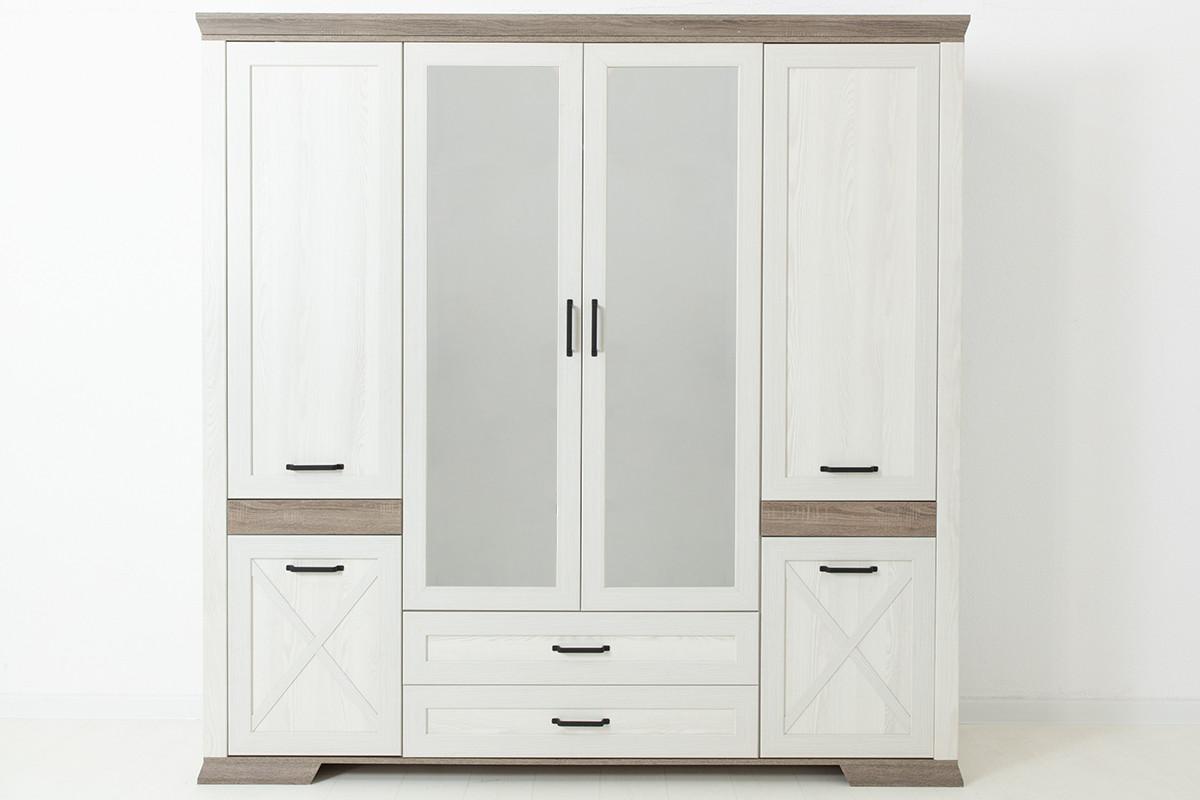 Шкаф для одежды 6Д  Марсель, Ясень Снежный, БРВ Брест (Беларусь)