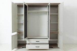 Шкаф для одежды 6Д  Марсель, Ясень Снежный, БРВ Брест (Беларусь), фото 2