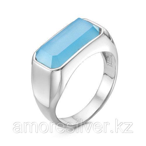 Серебряное кольцо с натуральным агатом голубым  Красная Пресня 23310914Дг размеры - 17,5 20 20,5