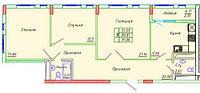 3 комнатная квартира в ЖК Сенатор Парк 91.32 м²