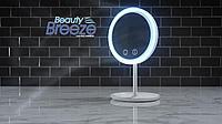 Зеркало с увеличением, подсветкой и вентилятором Beauty Breeze Mirror, фото 1