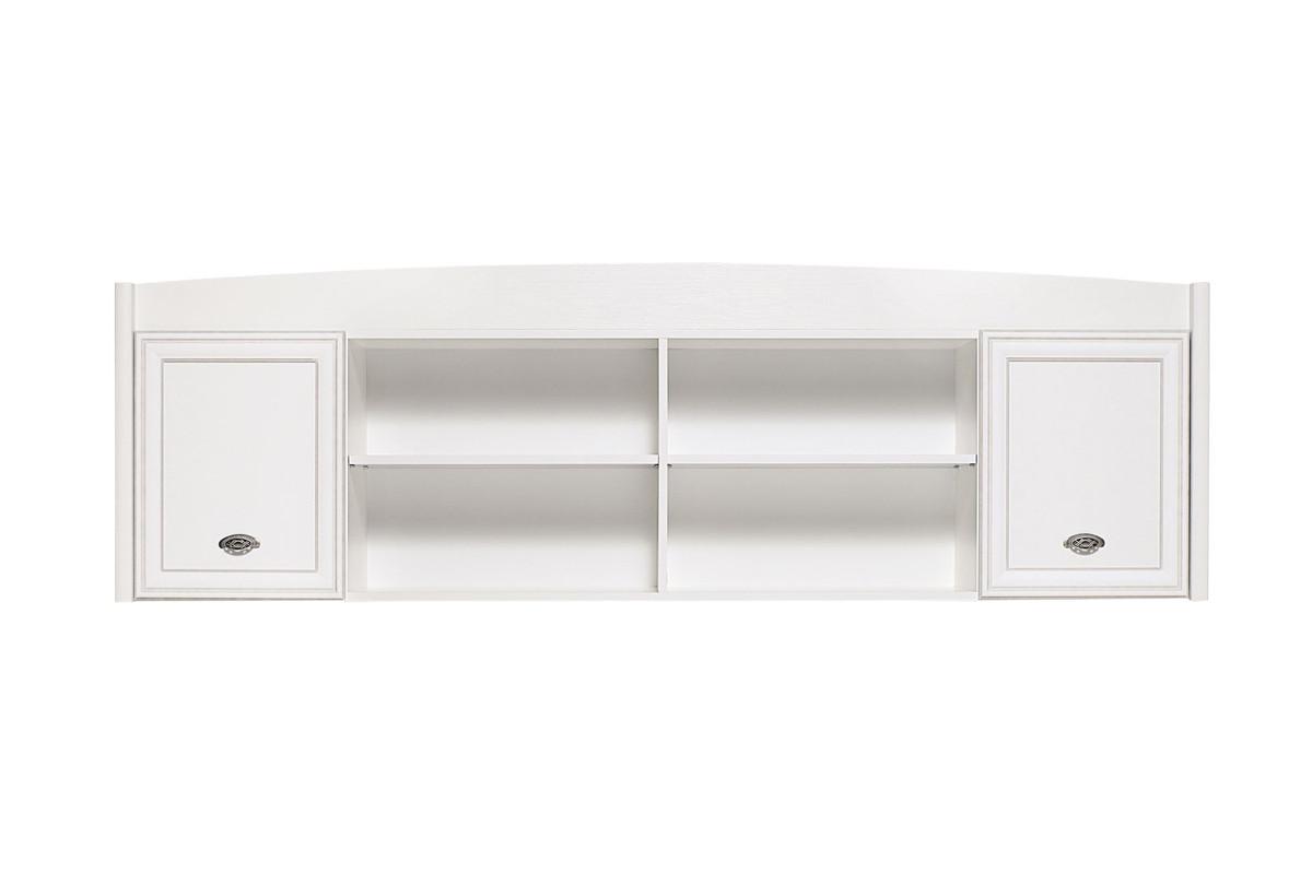 Шкаф для книг навесной 2Д , коллекции Салерно, Белый Белый, БРВ Брест (Беларусь)