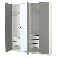 Гардероб ПАКС белый, Реинсволл Викедаль 200x38x236 см ИКЕА, IKEA, фото 1