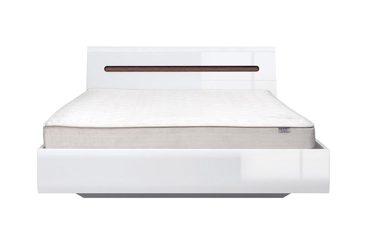 Кровать двуспальная (AZTECA LOZ 160*200), коллекции Ацтека, Белый Глянец, БРВ Брест (Беларусь)