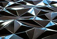 Декоративные панели 3d verge Грани, Черный Глянец, 3000х1000 мм Казахстан